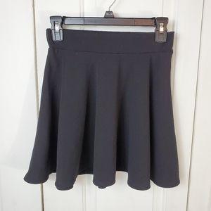 Agaci Black A-Line Skirt